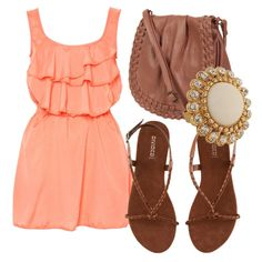 A neon peach dress was all I wanted this summer....