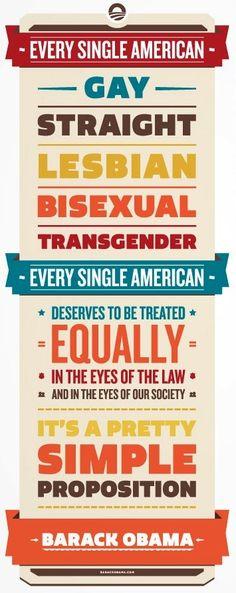 Barack Obama on Equality