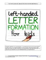 Left-Handed Letter Formation