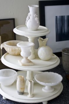 This is one way to use my three tiered Grand Stand. The stand comes apart giving you several options to choose from www.MatthewMeadCollection.com