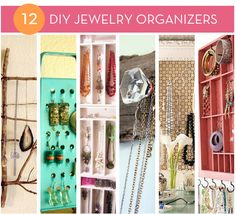 Various jewlery organizers, DIY ideas