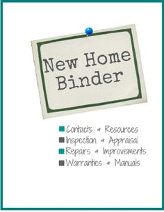 New Home Binder + FREE Printables!