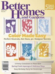 Our March issue is all about color! If you love these bright botanical prints, the #DIY instructions can be found here: http://www.bhg.com/decorating/do-it-yourself/wall-art/diy-artwork-botanical-prints/