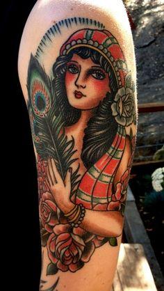 Paul Dobleman - gypsy woman tattoo