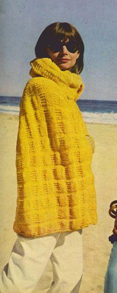 Knit Beach Cape  by suerock on Etsy, $3.99