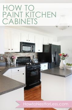 How to Paint Kitchen Cabinets    @Frances Durham Sylvia Durham Sylvia Durham Sylvia Tokarski-Johnson