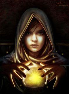 The Fortune Teller...#fantasy #magic #art