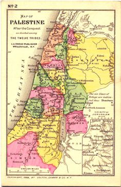 Map of ancient Israel.