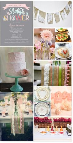 Pretty pink, girly vintage baby shower inspiration!