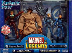 Marvel Legends Fantastic Four Exclusive Gift Pack // Pinned by: Marvelicious Toys - The Marvel Universe Toy & Collectibles Podcast [ m a r v e l i c i o u s t o y s . c o m ] marvelici toy, legends, gift pack, gifts, da marvel, fantastic four, legend toybiz, marvel legend, exclus gift