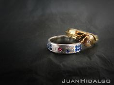 Star Wars inspired Wedding rings: C3P0 and R2D2