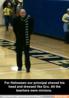 this man, school, halloween costumes, costume ideas, minion