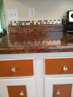 Kitchen--painted countertop