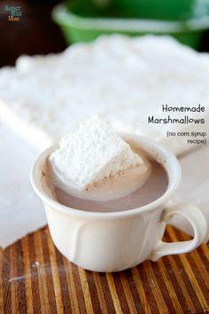 homemade marshmallows no corn syrup recipe #realfood #gaps