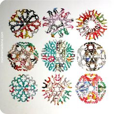 Junk mail snowflakes - these look awesome! Better save those unwanted flyers after all :)