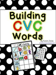 Building CVC Words Magnetic Letter Center! Student self-check cards make this a great independent center. Recording sheets are included for student accountability. $