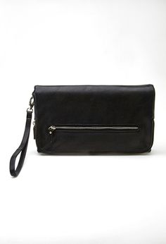 Oversized Faux Leather Clutch