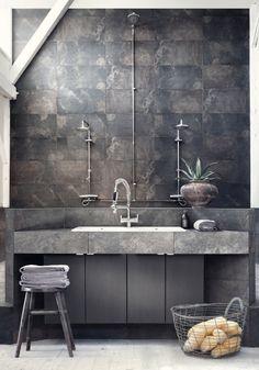 : concrete sink | interiöskolan badrum