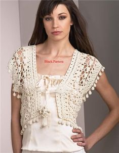 Unique bolero, free crochet patterns
