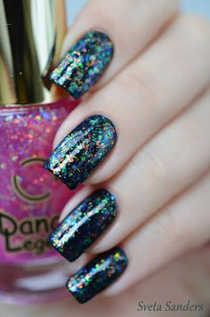 Dance Legend 937 ( over Orly Black Out ) #nail #nails #nailpolish