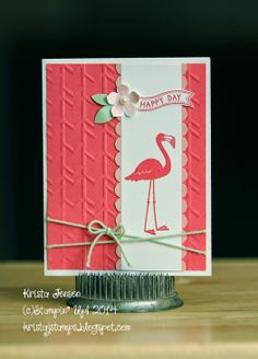Krista's Stamper Room: Pink Flamingo In My Front Yard