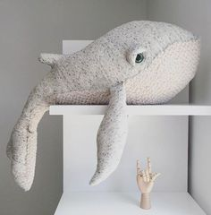 Buy Premium Quality Big Stuffed Whale Plush Toy Animal for 39.95 USD | Way Up Gifts