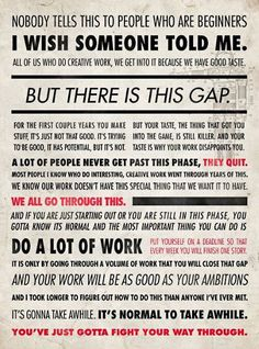 for the beginner, from NPR's Ira Glass.