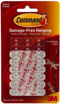 Damage free cord hangers - hide cords by stringing them along furniture
