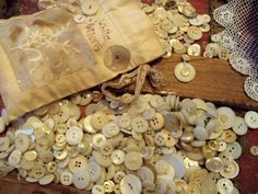 antique button collection