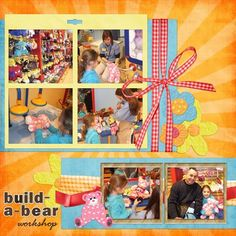 Build-a-Bear Birthday layout