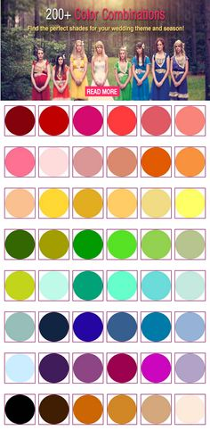 200+ Wedding Color Ideas on Bridal Guide - featuring The Perfect Palette http://bridalguide.com/planning/wedding-planning-basics/wedding-colors