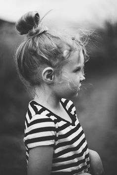 stripes and top knots...start 'em early