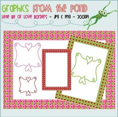 This is a set of nine individual border/frame files to use in your latest teaching resource files.There are 6 png files (transparent background...