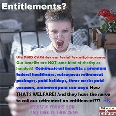 """Not """"entitlements""""!"""