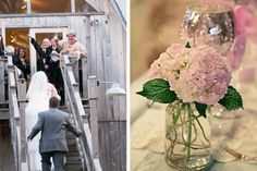 Real Wedding ~ Door County Woodwalk Gallery Barn Wedding. Photo by BMae Photography. Flowers by Door County Floral.