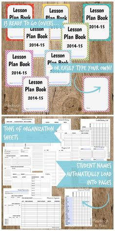 Awesome editable lesson planner and organizer. Type students' names and your subjects and they automatically load into the 350+ pages. $7.99 {Playdough to Plato}
