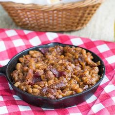 If you are looking for a baked beans recipe that packs in all of the flavors you love in baked beans, then these Slow Cooker Bourbon Baked Beans must make an appearance at your next party or barbecue.