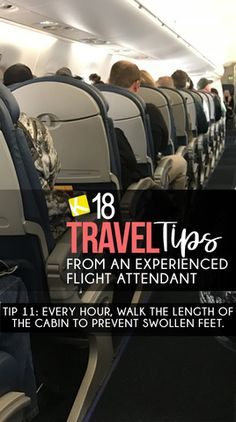 18 Travel Tips from an Experienced Flight Attendant #modelagem, #MODA #búzios #turismo #férias #travel #tripe #seguros #summer #verão #gastronoimia