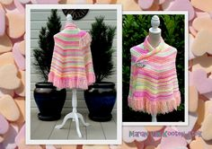 """The """"All Shawl"""" by Doris Chan, with fringes instead of the lace edging. The pattern can be downloaded here, there is also a diagram http://www.pinterest.com/pin/126734176987465732/"""