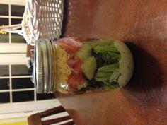 Salad in a mason jar