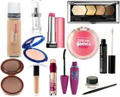 Makeup Starter Kit: Drugstore Products  via @Krista Knight and HighHeels