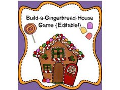 Build-a-Gingerbread House Game {Editable Game Cards}