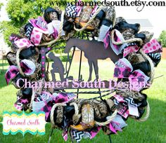 Grapevine cowgirl wreath western wreath front door by CharmedSouth