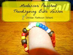 Montessori Preschool Thanksgiving Bible Lesson at christianmontessorinetwork.com