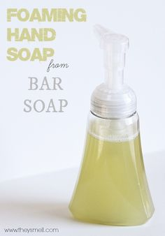 Foaming Hand Soap from Bar Soap