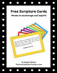 Free scripture cards for teachers to encourage and inspire