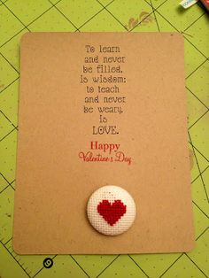 Teacher Valentine's card - change it up and make it bigger.