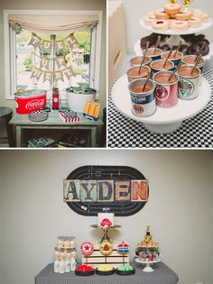 Race Track Themed 1st Birthday Party with Lots of Really Cute Ideas via Kara's Party Ideas | KarasPartyIdeas.com #RaceCarParty #VintageRaceCarParty #PartyIdeas #Supplies (1)