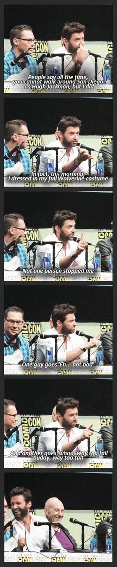 Hugh Jackman at Comic-Con…