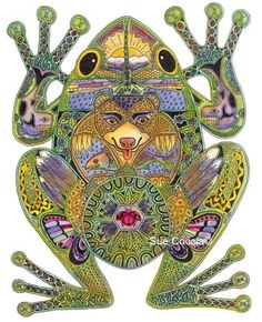 ☮ American Hippie Music Psychedelic Art ~ Frog